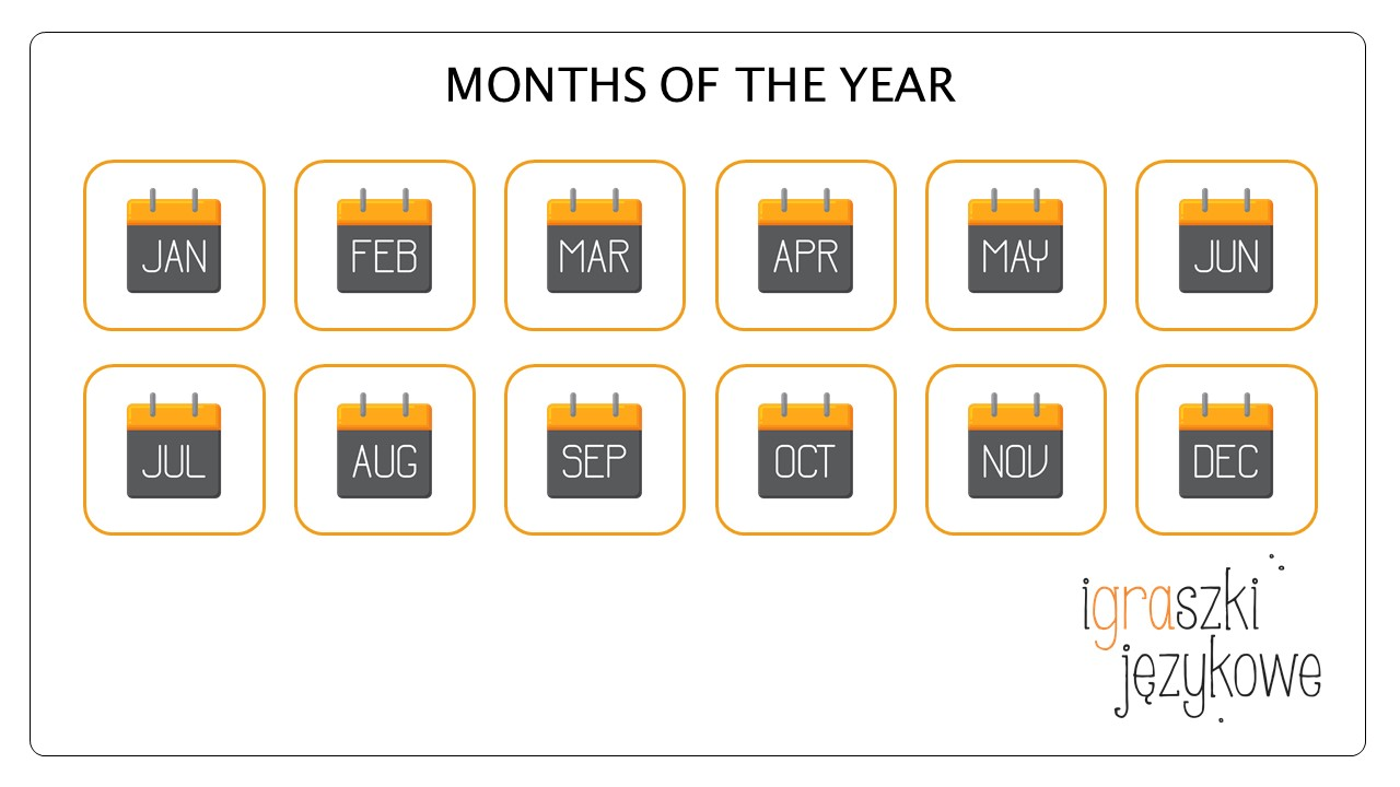 Miesiące po angielsku fiszki pdf