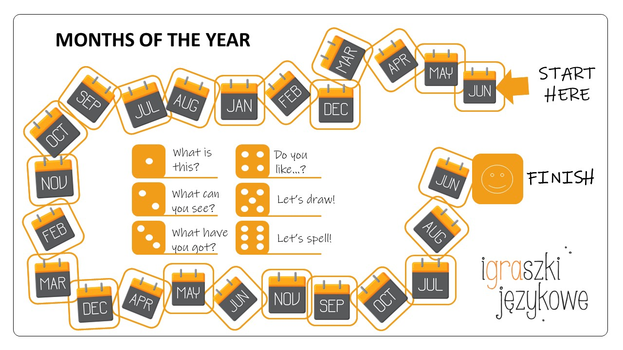 Miesiące po angielsku czyli kalendarz roku szkolnego w The Palms